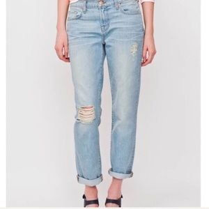 J Brand Aiden Distressed Boyfriend Jeans